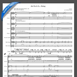 'Air On A Groove String' - Full Score