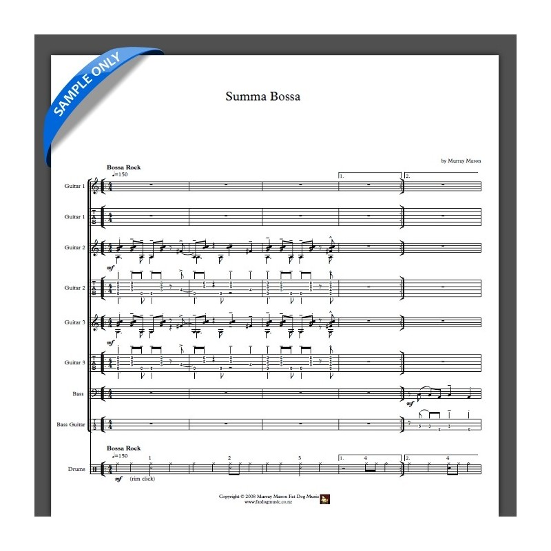 'Summa Bossa' - Full Score